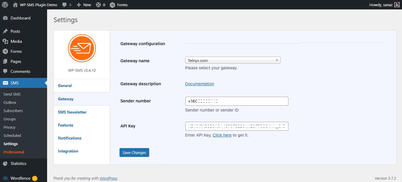 Telnyx Gateway Configuration