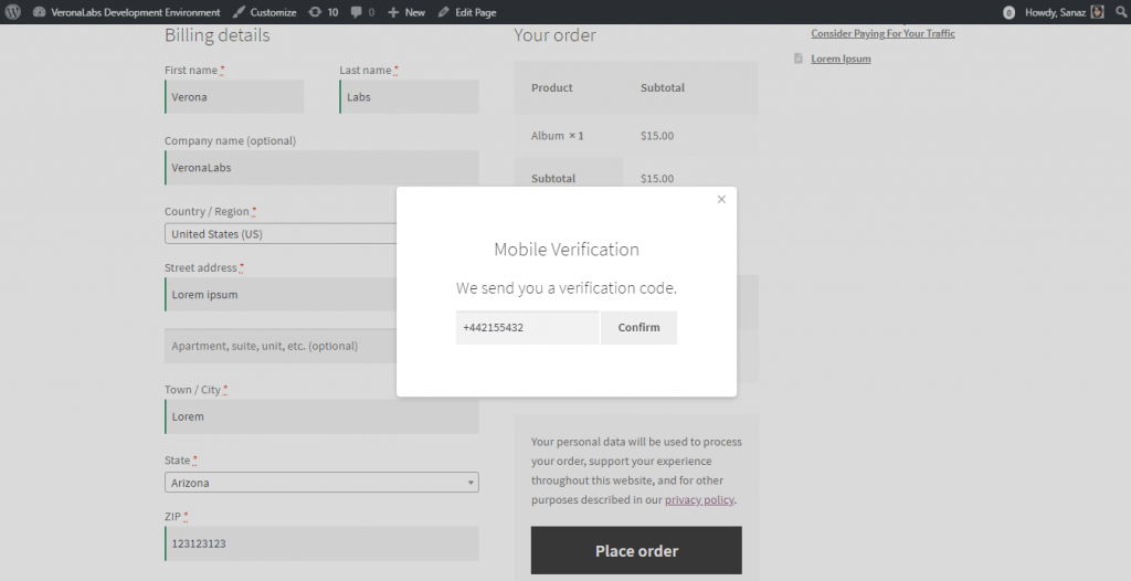 otp-woocommerce-checkout